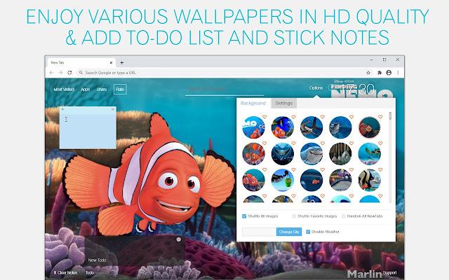 Finding Nemo Wallpaper HD Finding Nemo New Tab