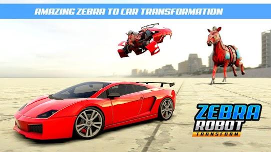 Zebra Robot Car Game: Car Transform Robot Games 4