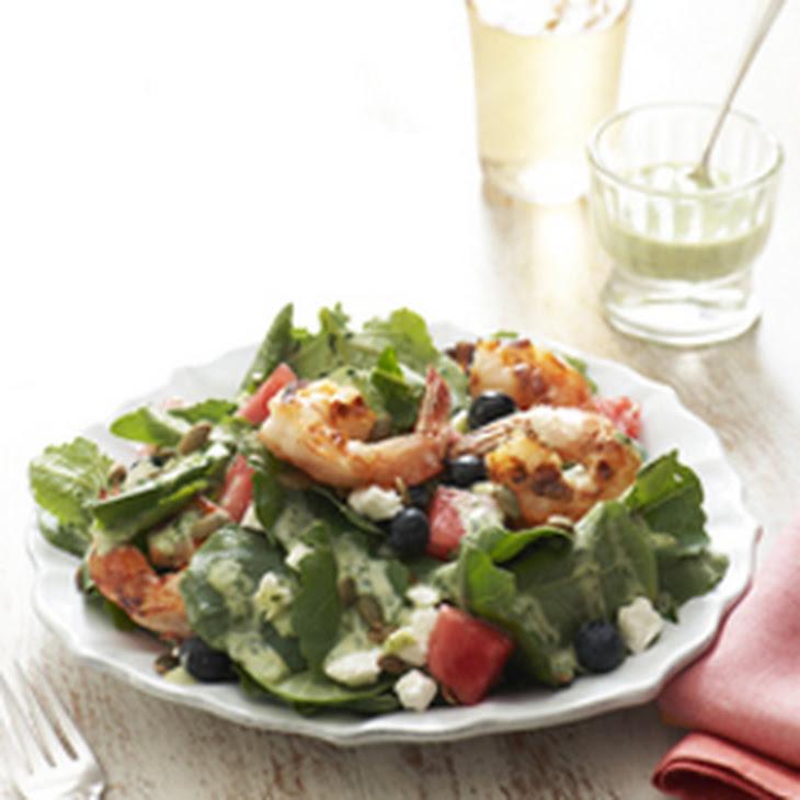 Summer Salad with Creamy Basil Vinaigrette Recipe