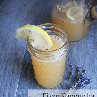 Fizzy Kombucha Lavender Lemonade