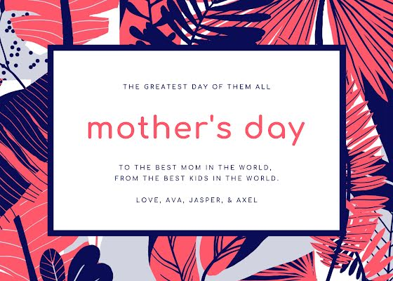 The Best Mom in the World - Mother's Day Card Template