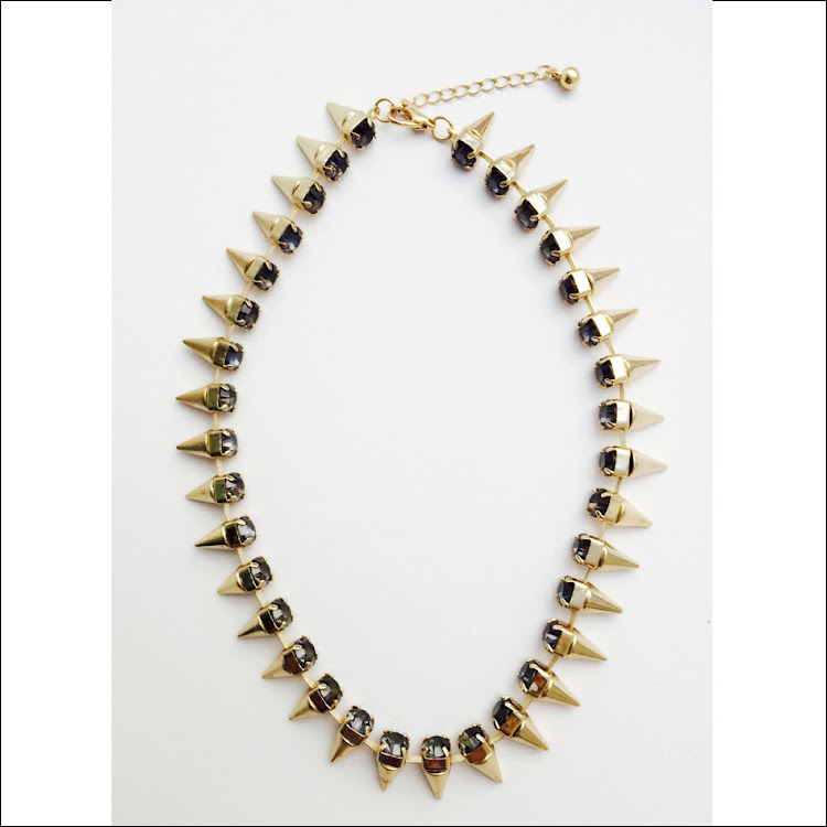 N025 - G. Lance Dual tone Necklace by House of LaBelleD.