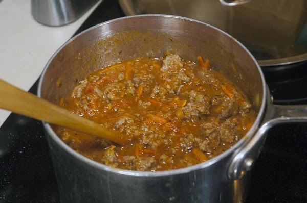 Allow to lightly simmer for about 5 minutes.
