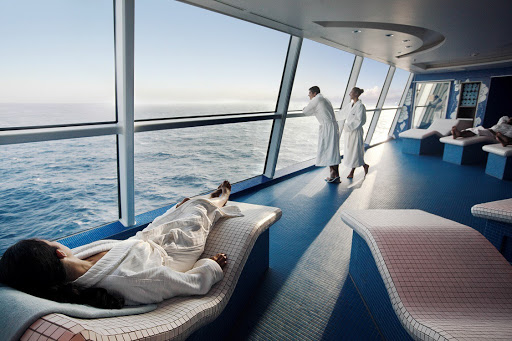 Celebrity-Cruises-Celebrity-Solstice-Persian-Garden.jpg - Persian Garden on your Celebrity cruise has deliciously warm stone lounges, a favorite spot to watch the ship sail away from a just-visited port.