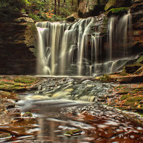 Tanic  by Kevin Frick - Landscapes Waterscapes ( west virginia, waterfall )