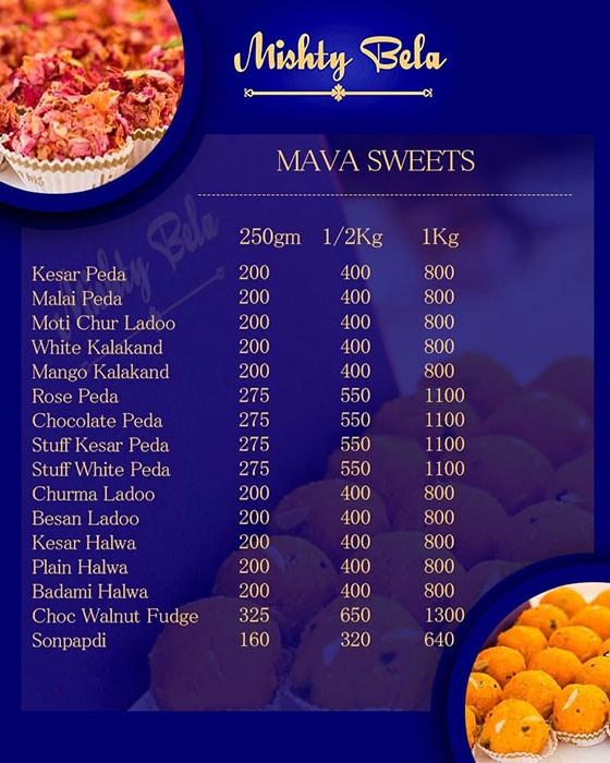 Mishty Bela menu 3