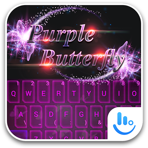 TouchPal PurpleButterfly Theme