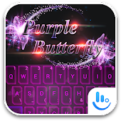 TouchPal PurpleButterfly Theme