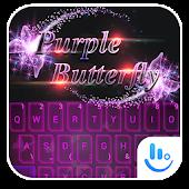 Unduh TouchPal PurpleButterfly Theme Gratis