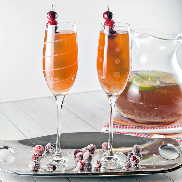 Cranberry Cider Champagne Punch Recipe