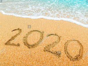 anno 2020 sulla sabbia