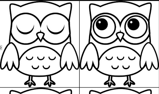 owl coloring book screenshot thumbnail