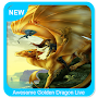 Awesome Golden Dragon Live Wallpaper APK icon