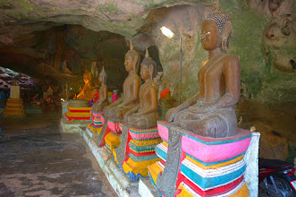 Photo: Buddhist temple in a cave