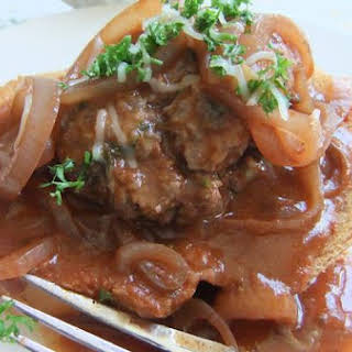 French Onion Salisbury Steak.