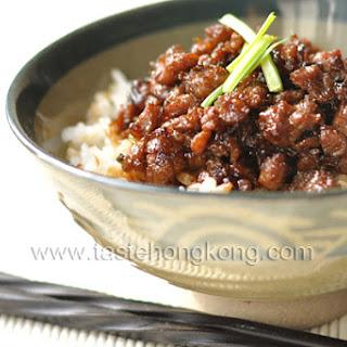 Pork Sauce Rice, a Taiwanese Snack.