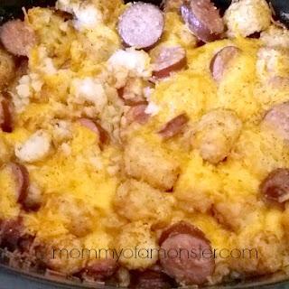 Crockpot Sausage & Cheesy Potato Casserole.
