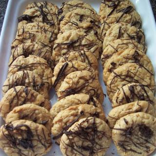 Chocolate Peanut Butter Oatmeal Toffee Cookies