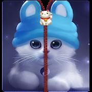 Adorable cat Zipper Lock