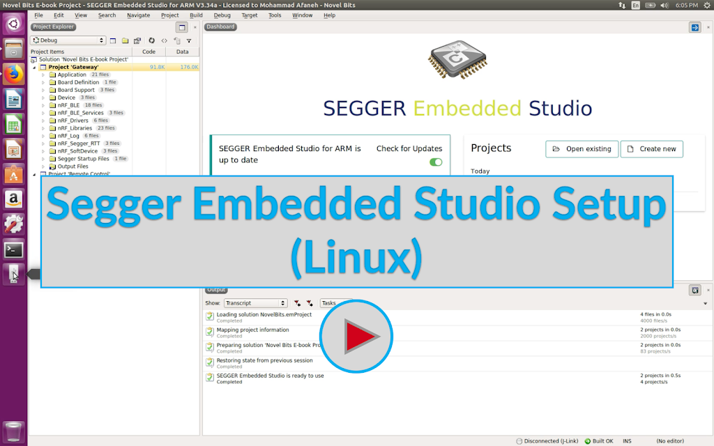Segger Embedded Studio Setup (Linux) Image