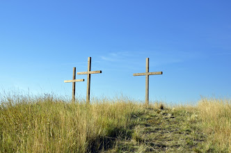 Photo: Three Crosses at the Top of the Hill