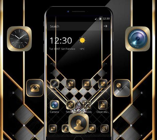 Gold Black Luxurious Theme 1.1.1 screenshots 1