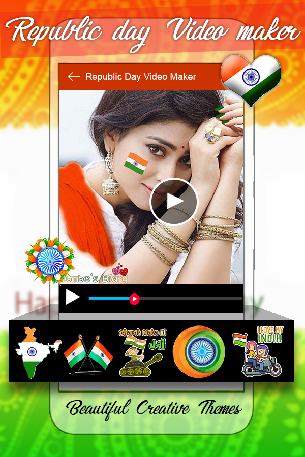 Republic Day Video Maker 2018 - Slideshow Maker- screenshot