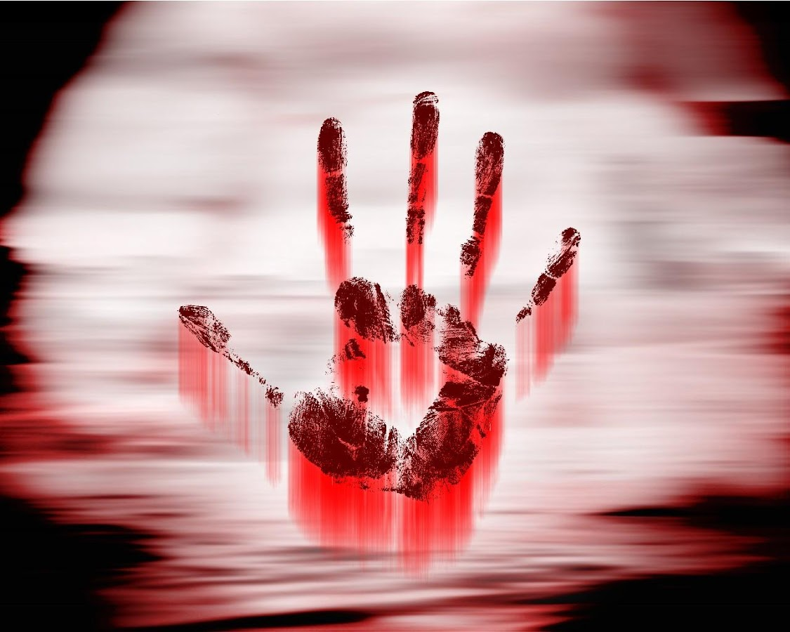Wallpaper a blood wallpapers - Hand Blood Wallpapers Screenshot