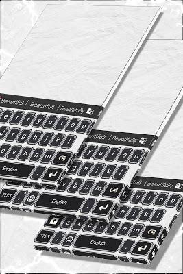 Black Marble Keyboard Theme - screenshot