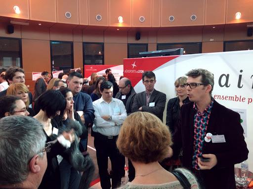 Scénarisation pédagogique - Scénographie pédagogique - mise en scène des messages stratégiques pour les Aéroports de Lyon autour de l'innovation - En partenariat avec Séménia