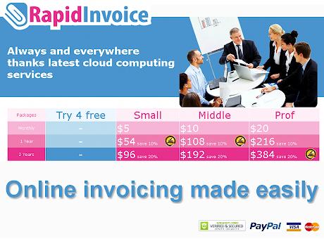 Rapid Invoice free online billing & invoicing