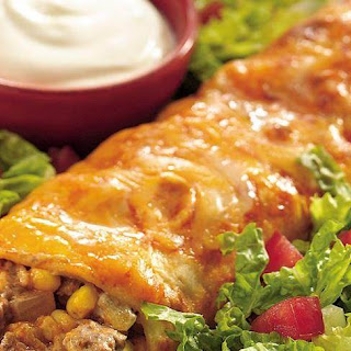 Beef and Green Chile Enchiladas.