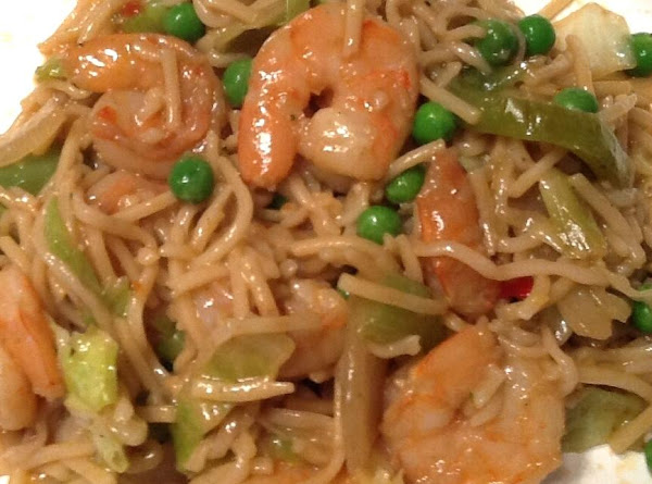 Shrimp Vegetable Lo Mien With A Thai Twist Recipe