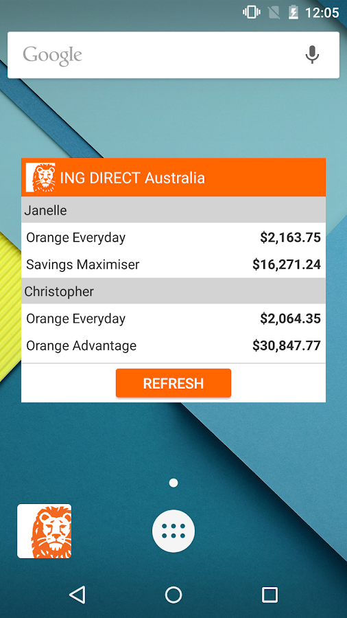 ING DIRECT Australia Banking - screenshot