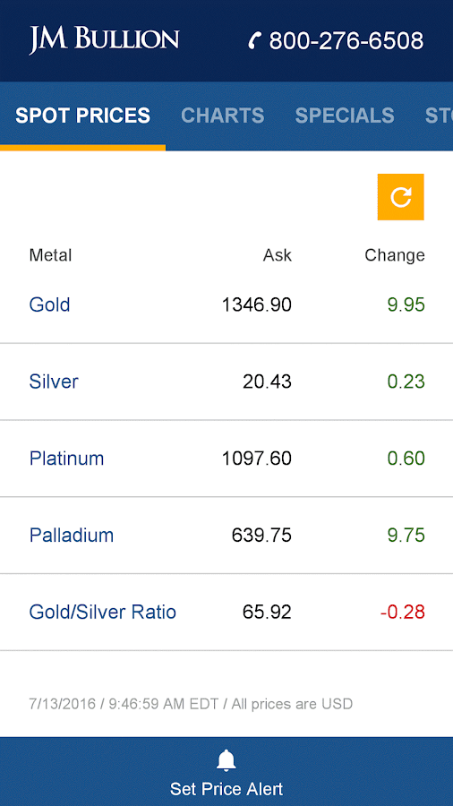Gold & Silver Spot Price- screenshot