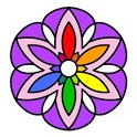 Cross Stitch Coloring Mandala icon