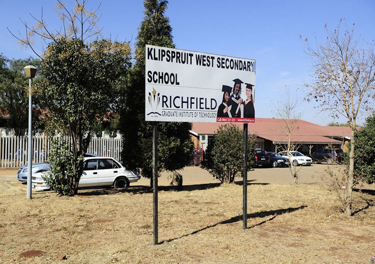 Klipspruit West High School. File photo