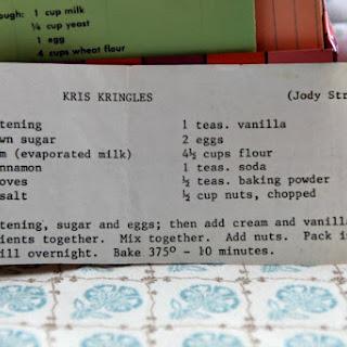 Kris Kringle Recipes