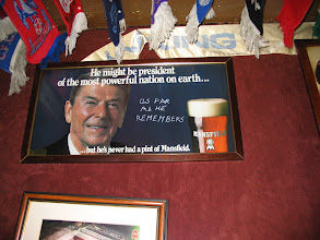Photo: old Mansfield sign on the wall in the smallest pub in Amsterdam