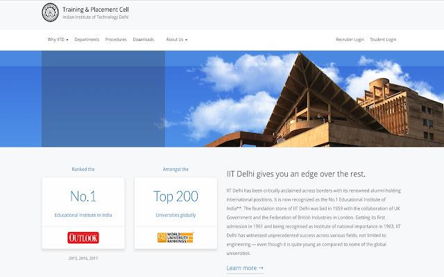 TnP IIT Delhi Resume Builder