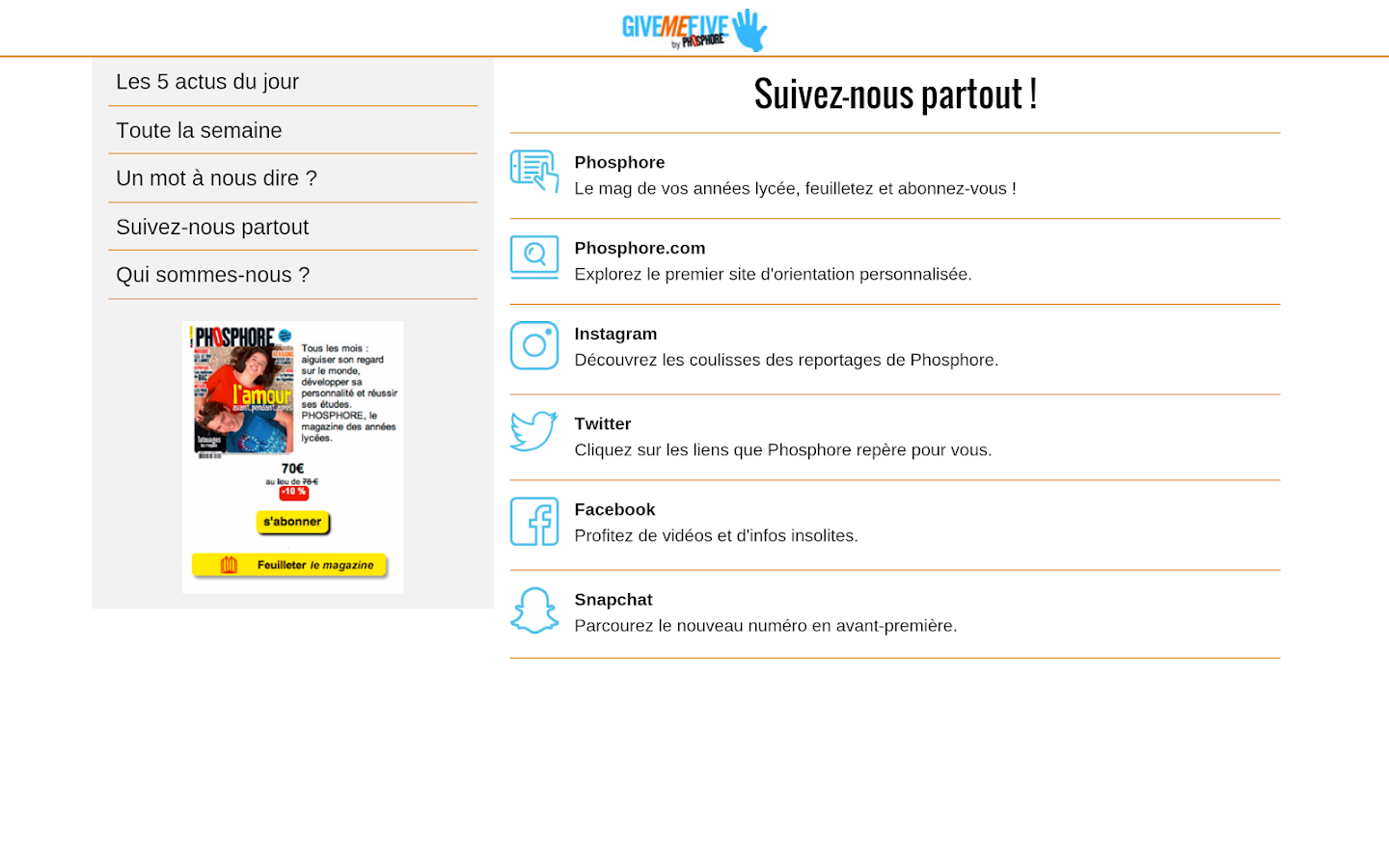 Give Me Five by Phosphore- screenshot