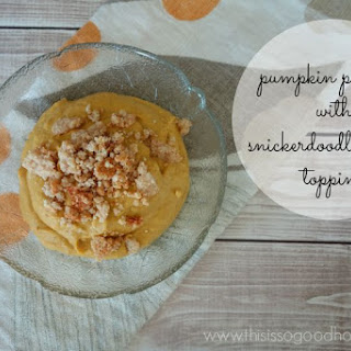Pumpkin Pudding with Snickerdoodle Crumb Topping (Dairy-free, Gluten-free, Paleo)