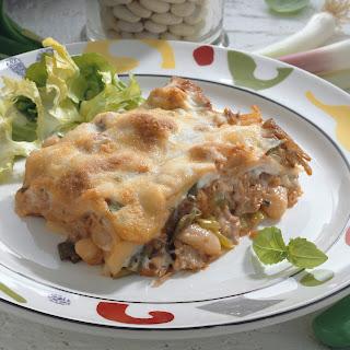 Lasagne mit Thunfisch-Bohnen-Füllung