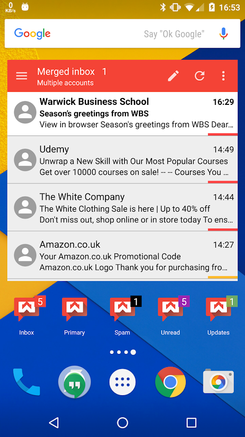 Widgets for Gmail- screenshot