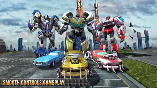 Télécharger Real Gangster Robot Car Transform Game 2020 APK MOD (Astuce) screenshots 3