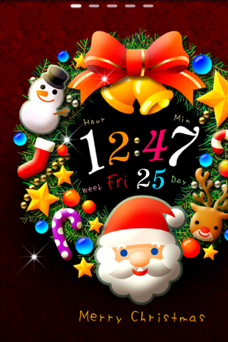 Xmas*Santa*Wreath ライブ壁紙