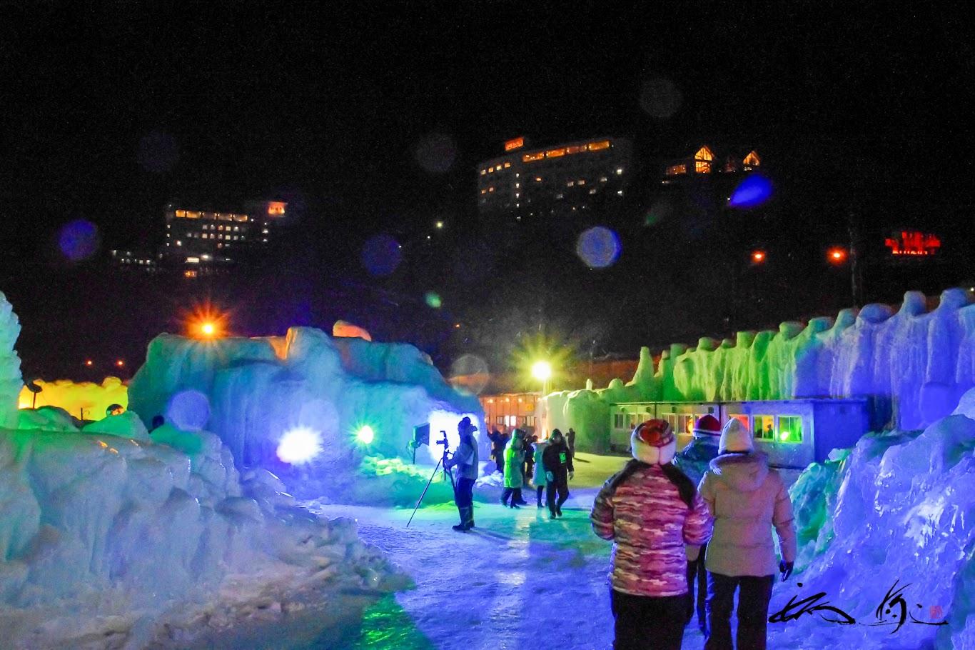層雲峡氷爆まつり2012