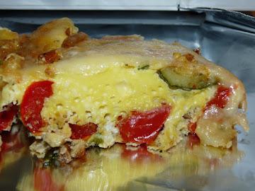 Roasted Vegetable & Gruyere Frittata Recipe