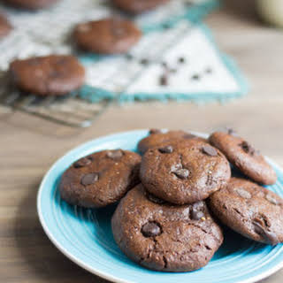 Soft and Gooey Chocolate Tahini Cookies.