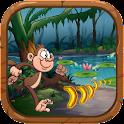 Jungle Kong Monkey Banana king icon